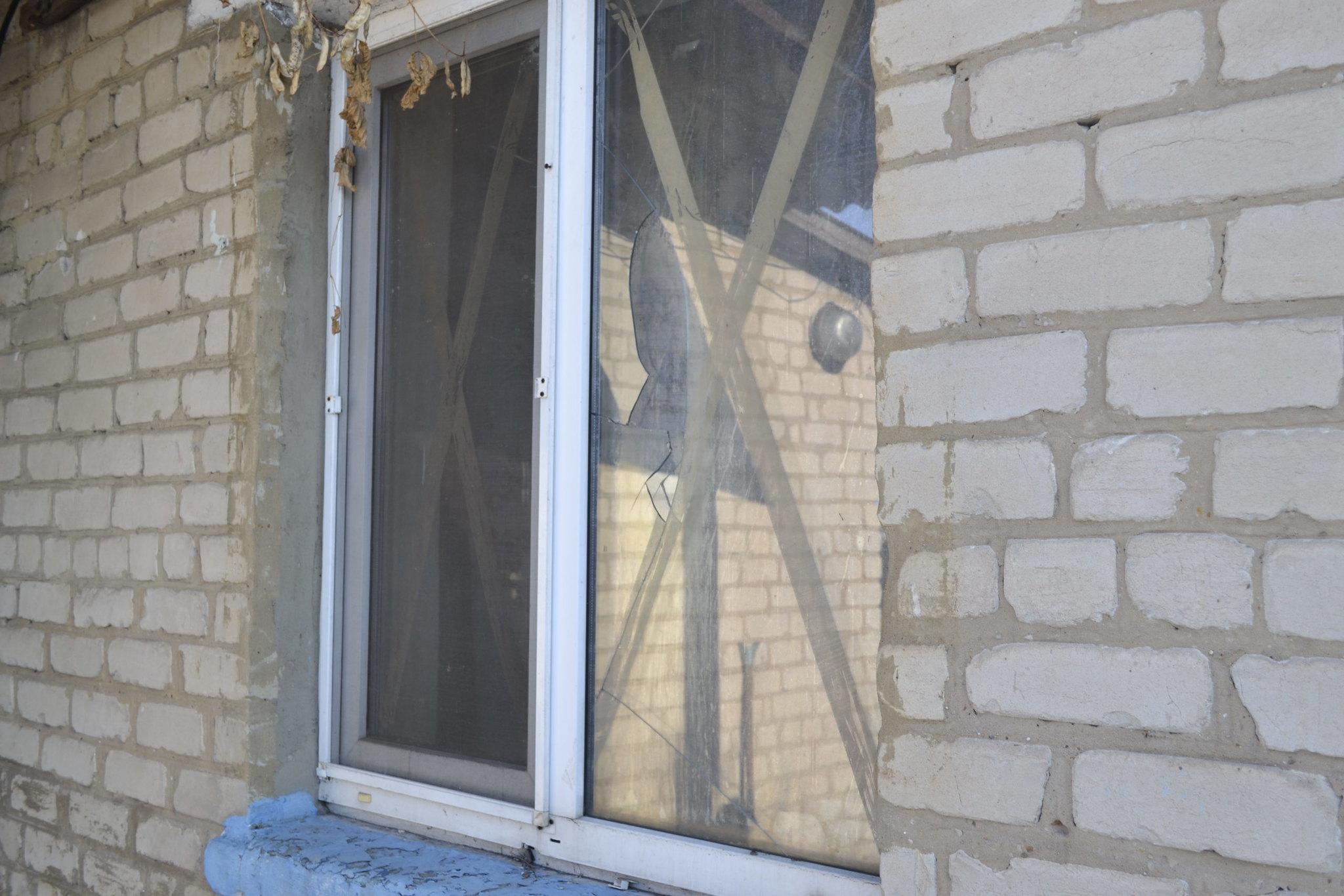 Fenêtre endommagée - Staromikhaïlovka