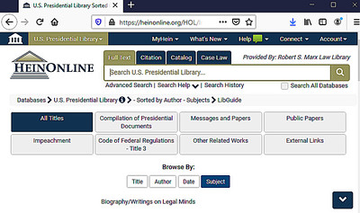 Heinonline_Presidential_Library