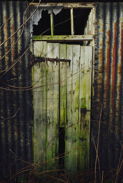 The old wooden door.....