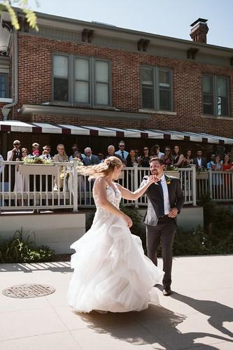 Dancing at the Koenig Alumni Center
