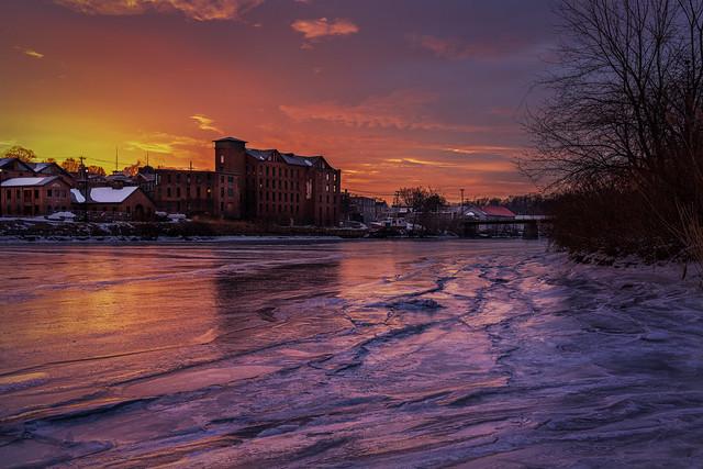 Sunrise Over Catskill