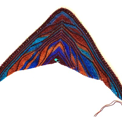 I finally finished Section 1 of my Papillon shawl! Jen suggested I use the Moth modifications...not sure you can see the eyelets very well until after I block when I am finished!