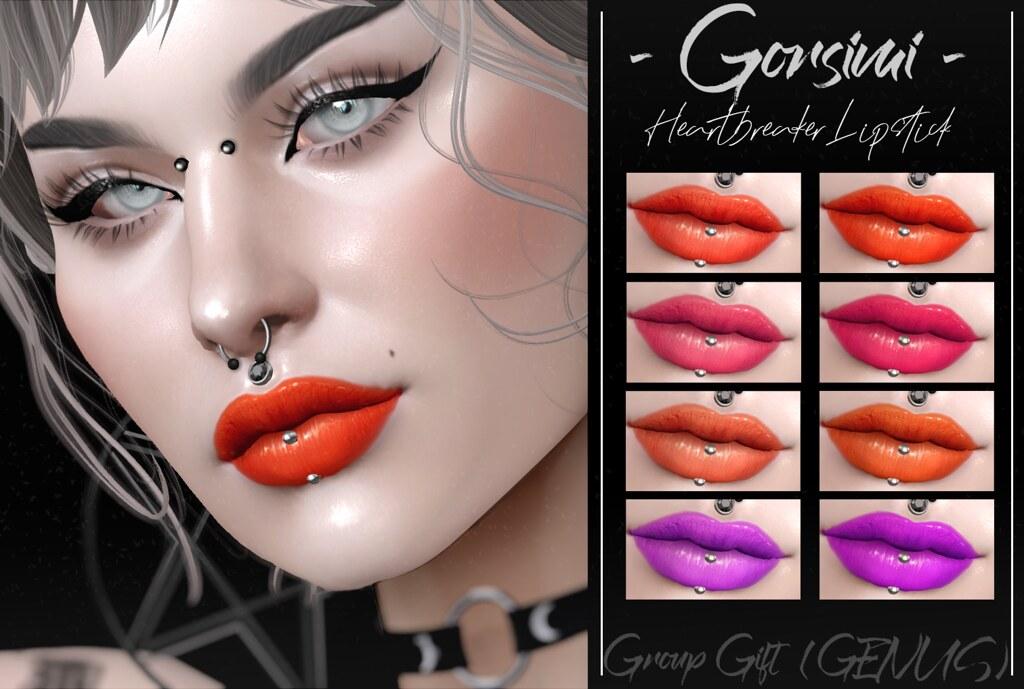 – Gorsimi – Heartbreaker Lipsticks (GENUS HD GROUP GIFT)