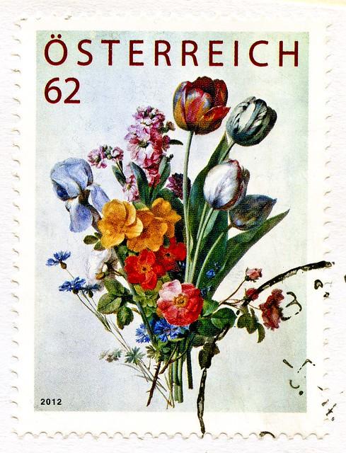 great stamp Austria 62c bunch of flowers (Blumenstrauß, bouquet, mazzo, buquê, bukett, buket, μπουκέτο, 花束, vönd, csokor, šopek, ramo, kytice, букет, kukkakimppu, bukiet, 꽃다발) postage postzegel timbres Autriche Österreich Briefmarke