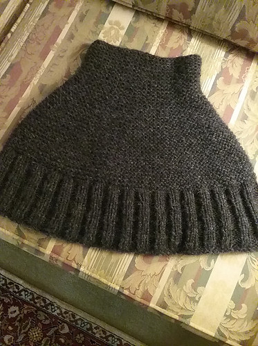 Carol wanted something soft and warm so she knit Getting Warmer by Espace Tricot using Garnstudio Drops Air