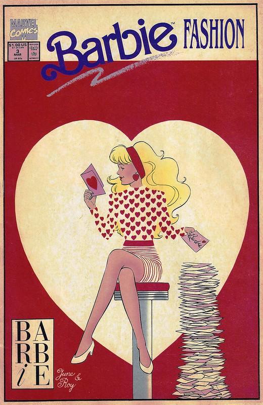 Happy Valentine's Day!  Barbie Fashion Comics Cover.
