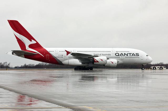 Qantas Airbus A380-842 VH-OQA, MSN 14