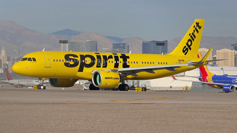 N917NK Spirit Airlines Airbus A320-271N - Las Vegas McCarran Int'l Airport (KLAS/LAS)