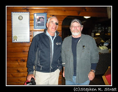Barry Gilbert and Stephen Street at Brooks Camp