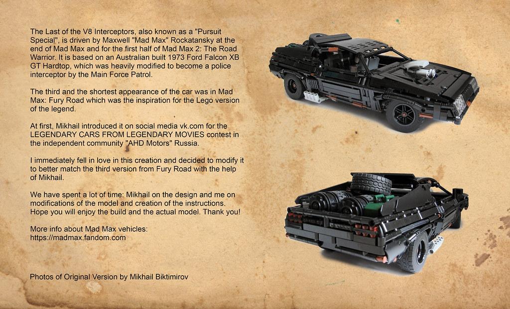 LEGO Black Interceptor - a story behind