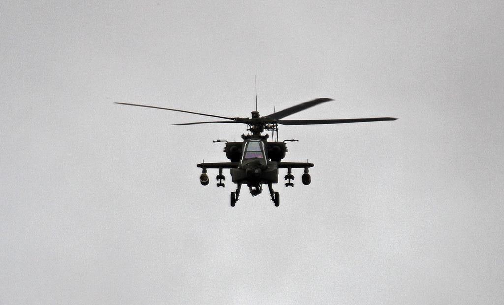 The U.S. Army  AH-64E Apache Helicopters