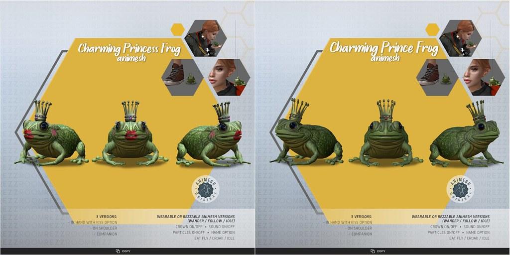 [Rezz Room] Charming Prince and Princess Frog Animesh