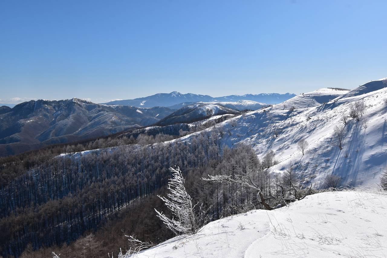 鉢伏山から眺める八ヶ岳