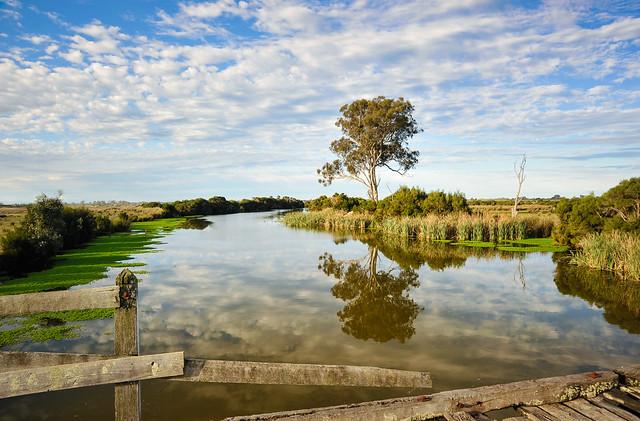 East Gippsland river and flood plain