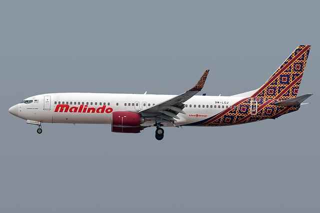 9M-LCJ Malindo Air Boeing 737-8GP(WL) at Jakarta Soekarno-Hatta Airport on 16 January 2020