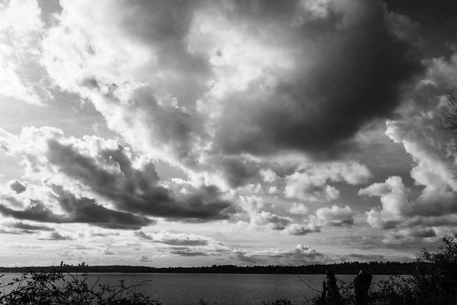 Afternoon clouds over Lake Washington