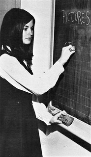 Student editor of the school newspaper setting deadlines  in 1969 at Nazareth Academy in Philadelphia, PA