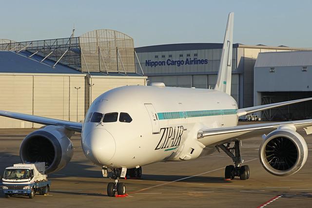 JA825J, Boeing 787-8, ZipAir, Tokyo Narita