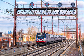 Amtrak 604 on 171, Chester, 2020-02-14