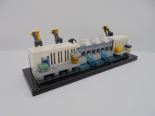 Lego Microscale Djerdap 1 Hydroelectric Power Station | by legomanijak