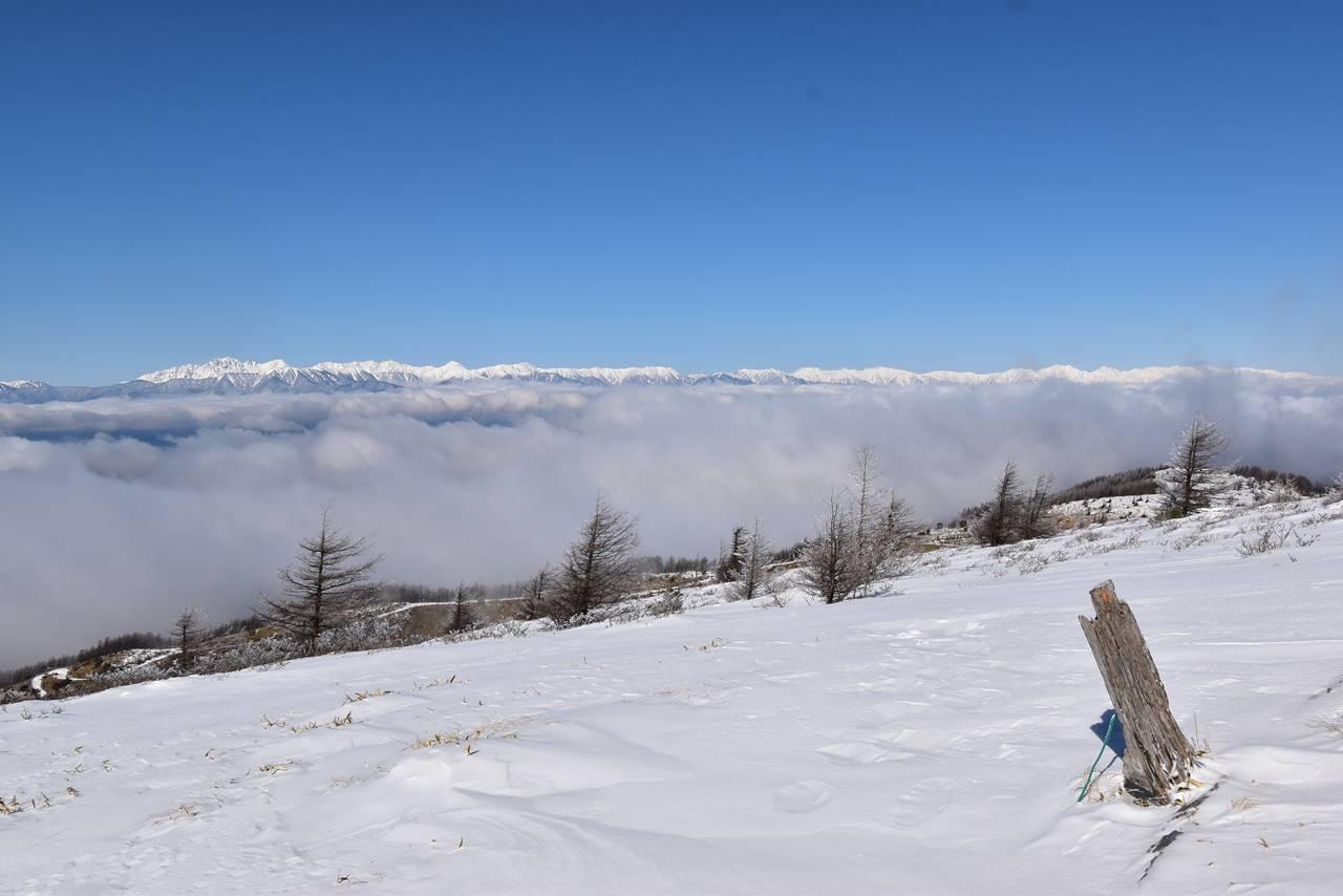 雲海の果ての北アルプス