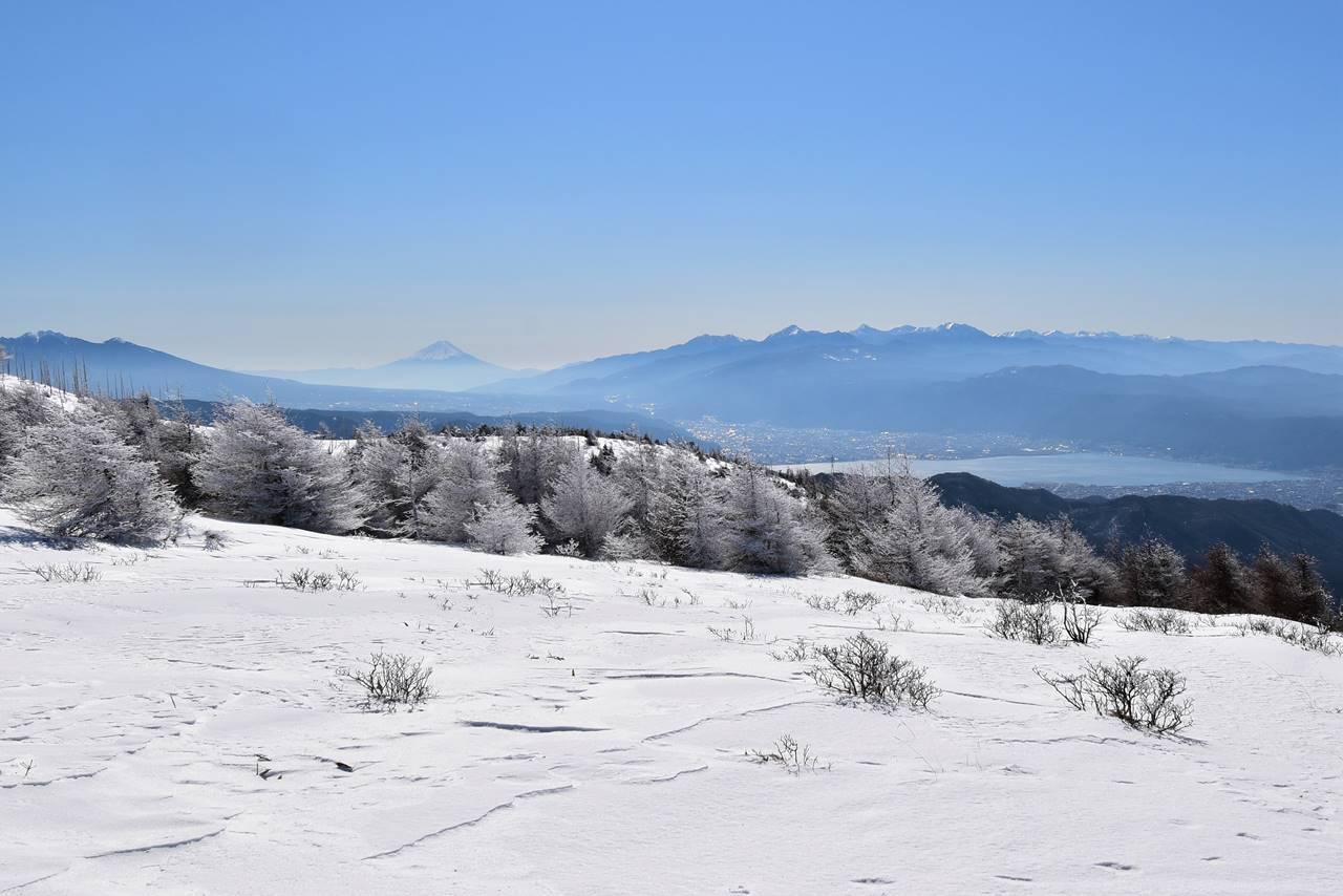 鉢伏山 霧氷とアルプスの展望 日帰り雪山登山