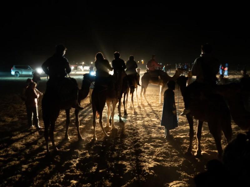 夜のサハラ砂漠