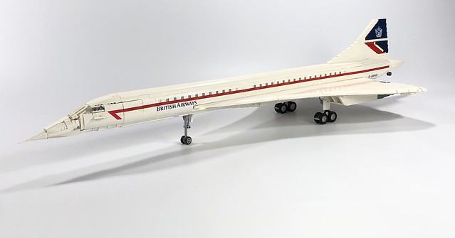 LEGO British Airways Concorde MOC
