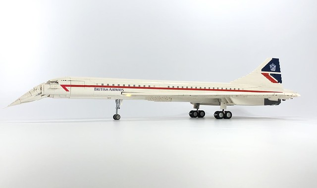 LEGO British Airways Concorde MOC