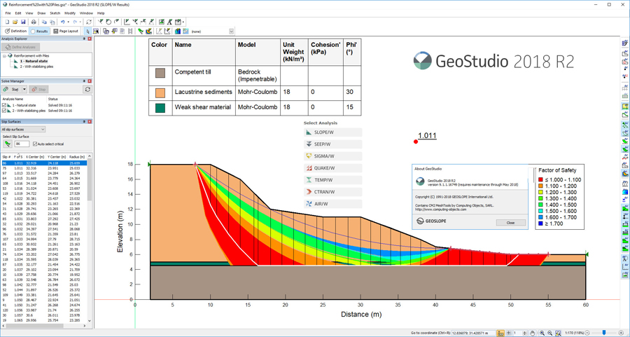 Working with GEOSLOPE GeoStudio 2018 R2 full license