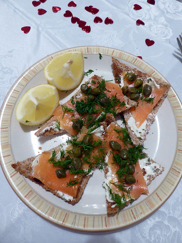 Smoked Salmon on Melba Toast