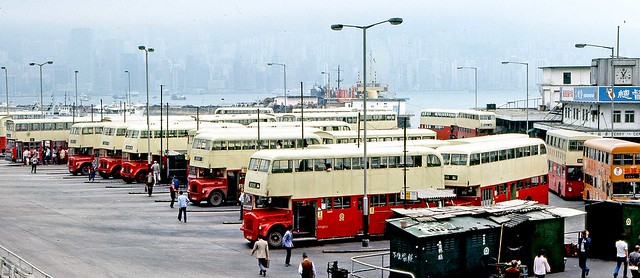 Hong Kong 1982: Star Ferry Kowloon bus terminal