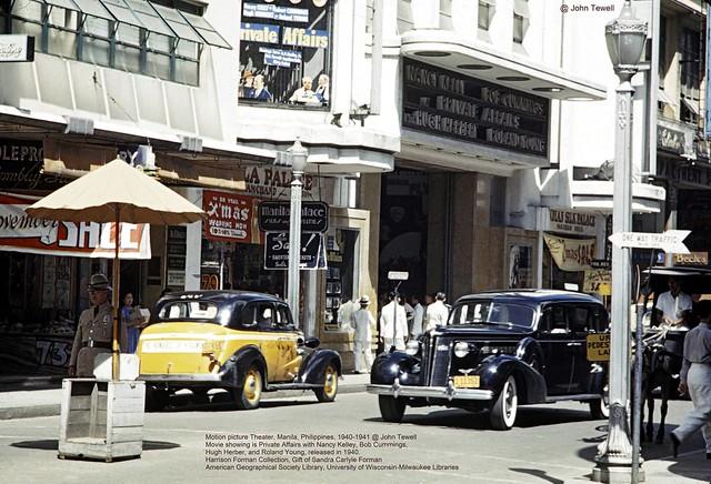 Lyric Theatre, 81-83 Escolta Street, Manila, Philippines, 1940-1941