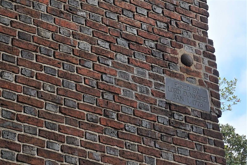 Lodged Cannon Ball at St. Paul's Episcopal Church - Norfolk, Va., Nov. 2019