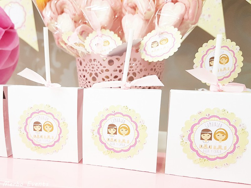 papeleria personalizada comunion niña merbo events