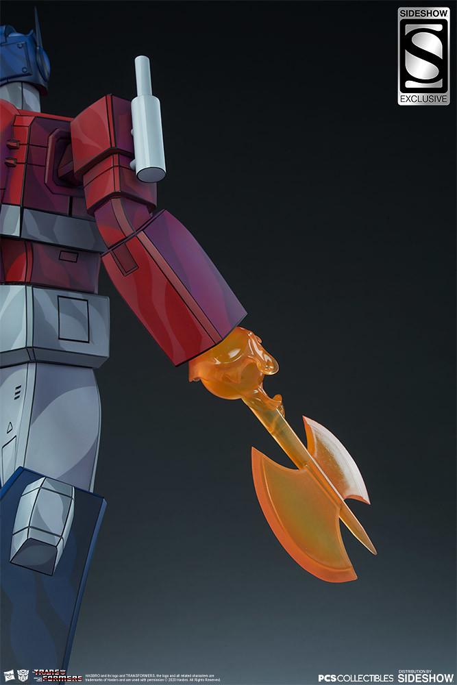 """Autobots Roll Out!"" Pop Culture Shock × Sideshow Collectibles《變形金剛:G1》Museum Scale 柯博文 Optimus Prime 全身雕像 普通版/EX版"