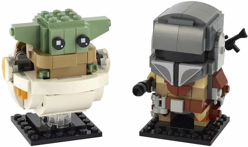 The Mandalorian BrickHeadz Set