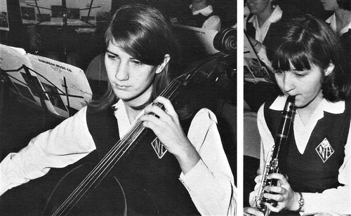 Students in Orchestra class  in 1969 at Nazareth Academy in Philadelphia, PA