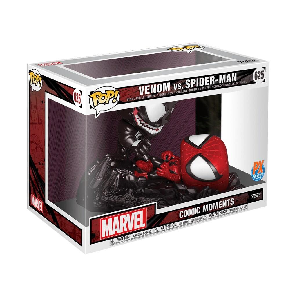 獨特風格重新詮釋經典漫畫封面!! Funko Pop! Marvel: Comic Moments【蜘蛛人大戰猛毒】Spider-Man vs. Venom【PREVIEWS 限定】