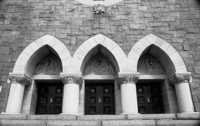 Church Triple Door Entrance