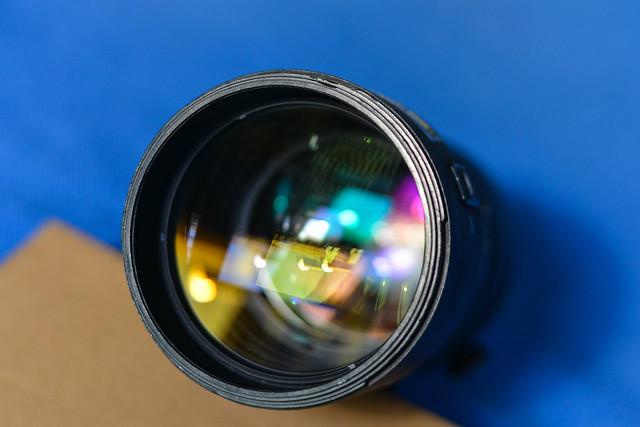 Black ultra telephoto zoom lens