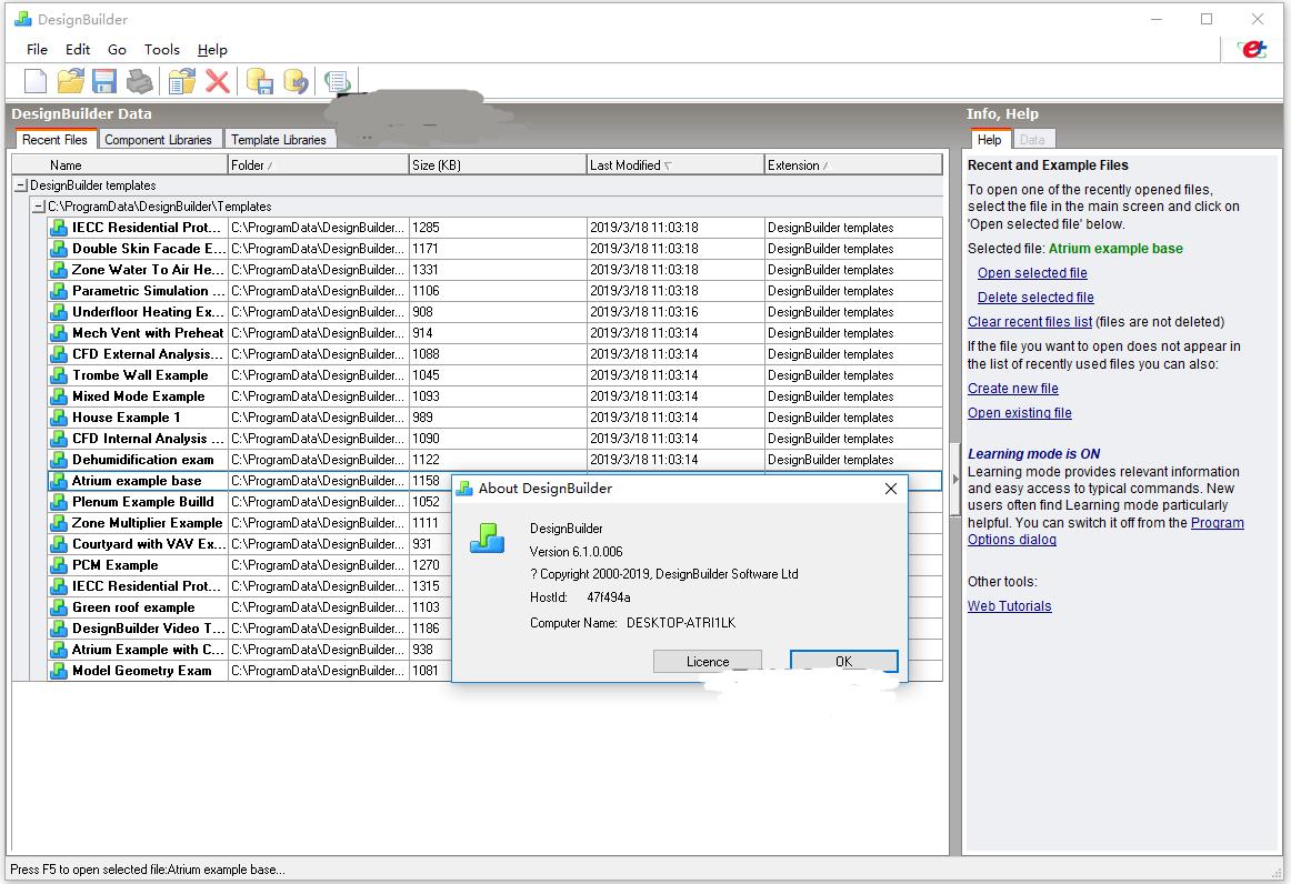 Working with DesignBuilder 6.1.0.6 full