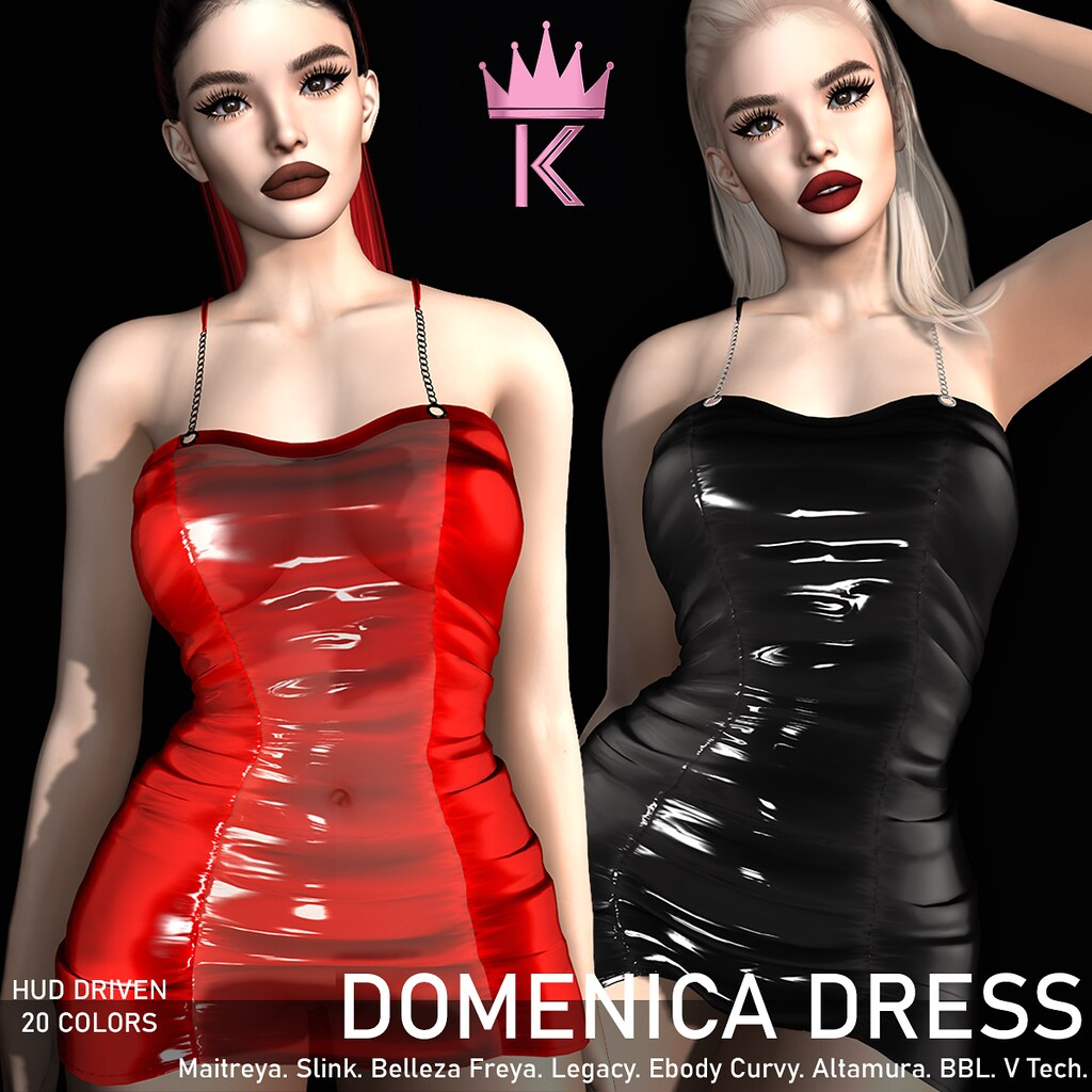 .KIMBRA. – DOMENICA LATEX DRESS