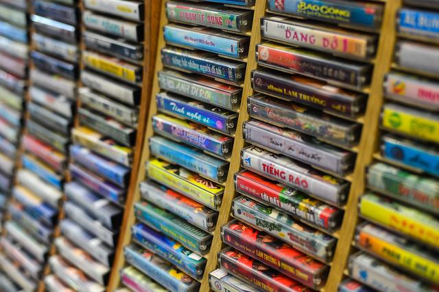 Cassette tapes of 60-80s Vietnamese music