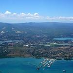 Cebu coastline from the air