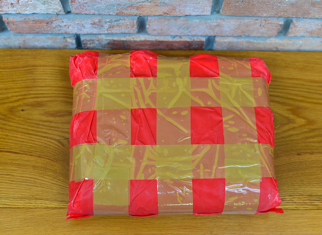 Delivered red package