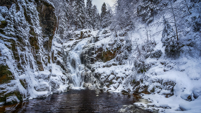 winter waterfall - Winter Wasserfall