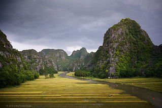 Thunderstorm over Tam Coc River Valley