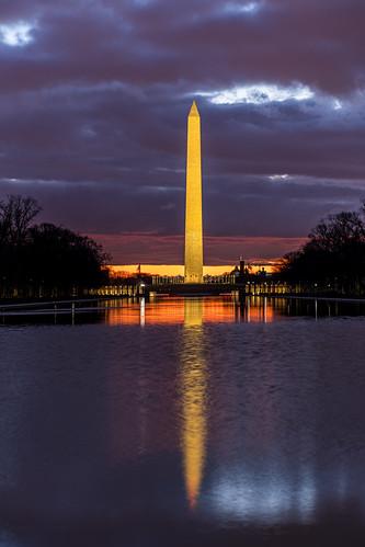 pool sunrise dawn washingtondc washingtonmonument nationalmall georgewashington potus1