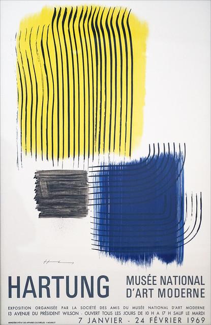 Affiche de l'exposition Hartung de 1969 (Musée d'art moderne de la ville de Paris)